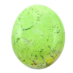 Natural 16.30cts chrysoprase lemon cabochon 21x16.5mm oval loose gemstone s23705