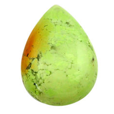 chrysoprase lemon cabochon 22.5x16mm pear loose gemstone s17574