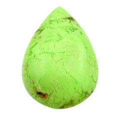 Natural 16.30cts chrysoprase lemon cabochon 23.5x16mm pear loose gemstone s17557