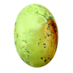 chrysoprase lemon cabochon 25x16 mm oval loose gemstone s17575