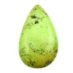 Natural 16.30cts chrysoprase lemon cabochon 27.5x15 mm loose gemstone s17544