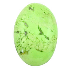 Natural 29.30cts chrysoprase lemon cabochon 27x17.5mm oval loose gemstone s23704