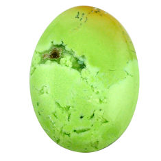 Natural 31.30cts chrysoprase lemon cabochon 28.5x20mm oval loose gemstone s23688
