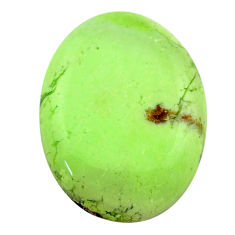 Natural 28.45cts chrysoprase lemon cabochon 28x20 mm oval loose gemstone s23693