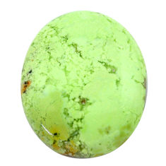 Natural 36.20cts chrysoprase lemon cabochon 28x23 mm oval loose gemstone s23703