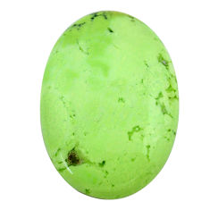Natural 33.40cts chrysoprase lemon cabochon 30x21 mm oval loose gemstone s23687