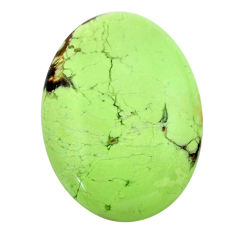 Natural 39.45cts chrysoprase lemon cabochon 31x22 mm oval loose gemstone s23691