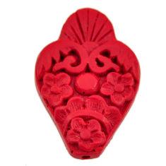 cinnabar spanish red 33.5x22 mm carving loose gemstone s16923