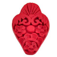 cinnabar spanish red 34x23 mm carving loose gemstone s16936