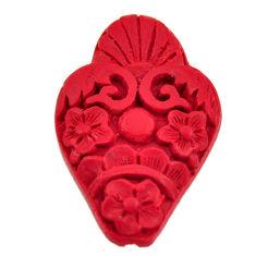 cinnabar spanish red 34x23 mm carving loose gemstone s16940