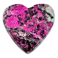 Natural 26.35cts cobalt calcite pink 26x25 mm heart loose gemstone s20230