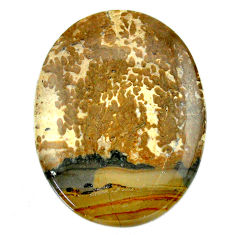 Natural 48.40cts cotham landscape marble 40x29 mm oval loose gemstone s23530