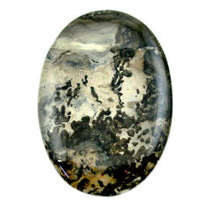 Natural 43.45cts cotham landscape marble 42x28 mm oval loose gemstone s23531