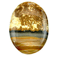 Natural 47.35cts cotham landscape marble 44x30 mm oval loose gemstone s23526