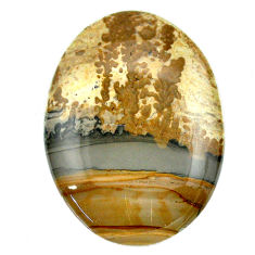 Natural 59.15cts cotham landscape marble 46x32 mm oval loose gemstone s23532