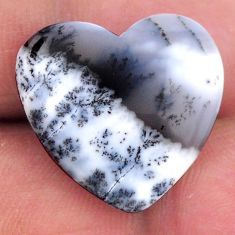Natural 13.10cts dendrite opal (merlinite) 21x19 mm heart loose gemstone s19184