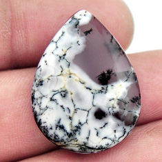 Natural 17.40cts dendrite opal (merlinite) 27.5x20 mm pear loose gemstone s17774