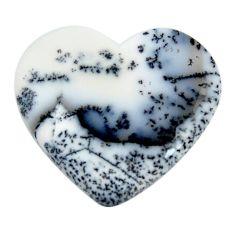 Natural 25.15cts dendrite opal (merlinite) 28.5x26mm loose gemstone s18663