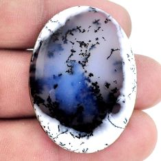 Natural 35.10cts dendrite opal (merlinite) 38x28 mm oval loose gemstone s20769