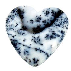 Natural 20.10cts dendrite opal (merlinite) white 26.5x26mm loose gemstone s18675