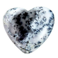 Natural 24.30cts dendrite opal (merlinite) white 28x27 mm loose gemstone s18662