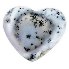 Natural 25.15cts dendrite opal (merlinite) white 29x25 mm loose gemstone s18666