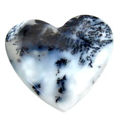 Natural 30.15cts dendrite opal (merlinite) white 29x27 mm loose gemstone s18670