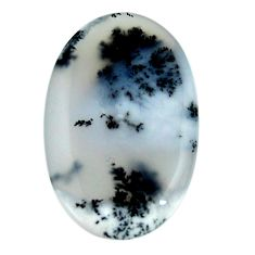 Natural 23.45cts dendrite opal (merlinite) white 32x20 mm loose gemstone s18643