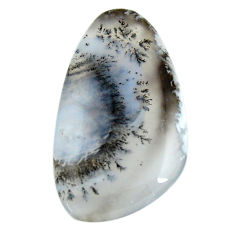 Natural 29.45cts dendrite opal (merlinite) white 38x22 mm loose gemstone s18659
