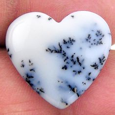 Natural 9.15cts dendrite opal white cabochon 20x18.5 mm loose gemstone s19182