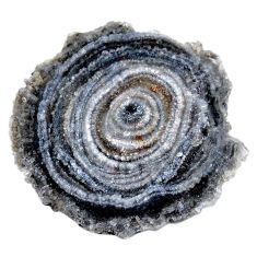 Natural 48.45cts desert druzy grey rough 40x37.5 mm fancy loose gemstone s19060