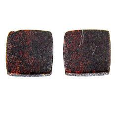 Natural 8.10cts dinosaur bone fossilized 12x12 mm pair loose gemstone s19131