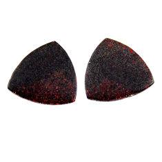 Natural 6.30cts dinosaur bone fossilized 17x17 mm pair loose gemstone s19122