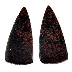 Natural 10.10cts dinosaur bone fossilized 26x11 mm pair loose gemstone s19124