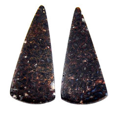 Natural 11.30cts dinosaur bone fossilized 29x12 mm pair loose gemstone s19130
