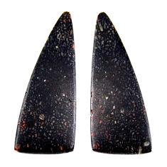 Natural 10.15cts dinosaur bone fossilized 31x11 mm pair loose gemstone s19128