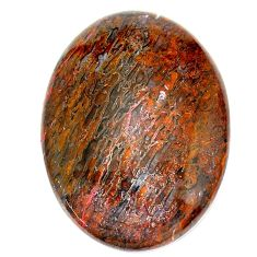 Natural 31.30cts dinosaur bone fossilized brown 31x22.5 mm loose gemstone s23948