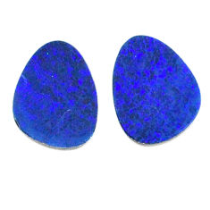 Natural 4.30cts doublet opal australian blue 10.5x7.5 mm loose gemstone s20174
