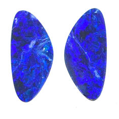 Natural 3.15cts doublet opal australian blue 12.5x5 mm loose gemstone s20175