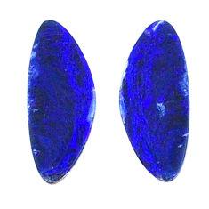 Natural 4.20cts doublet opal australian blue 12x6 mm fancy loose gemstone s20196