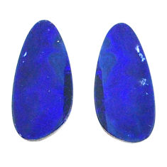 Natural 3.10cts doublet opal australian blue 13.5x5 mm loose gemstone s20197