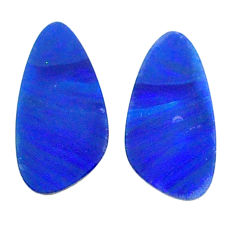 Natural 4.20cts doublet opal australian blue 13.5x7 mm loose gemstone s20173
