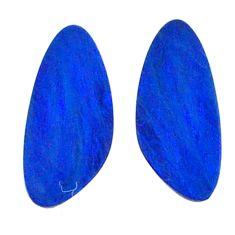 Natural 4.10cts doublet opal australian blue 13x6 mm fancy loose gemstone s20194