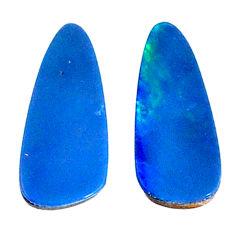 Natural 4.20cts doublet opal australian blue 14x6 mm fancy loose gemstone s20158