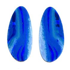 Natural 5.05cts doublet opal australian blue 15.5x6.5 mm loose gemstone s20179