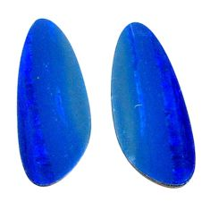 Natural 4.05cts doublet opal australian blue 15.5x6.5 mm loose gemstone s20182