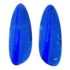 Natural 3.10cts doublet opal australian blue 15x5 mm fancy loose gemstone s20184