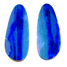 Natural 3.15cts doublet opal australian blue 15x5.5 mm loose gemstone s20150