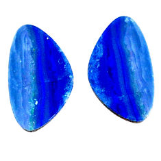 Natural 5.10cts doublet opal australian blue 15x6 mm fancy loose gemstone s20186