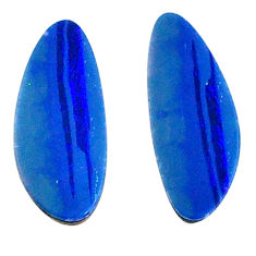 Natural 3.35cts doublet opal australian blue 15x6 mm fancy loose gemstone s20189